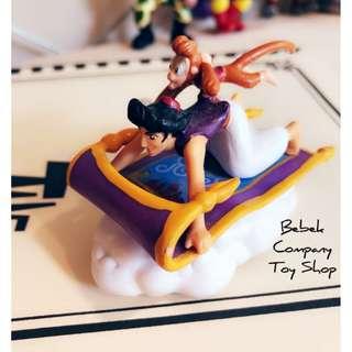 VTG 1990s Disney Aladdin applause 迪士尼 阿拉丁 阿布 魔毯 絕版玩具 古董玩具