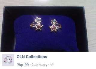 Hot and cold stars earring