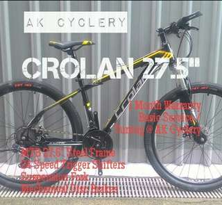 "🚚 🆕 MTB 27.5"" CROLAN 24 Speed Trigger Shifters Suspension Fork Mechanical Disc Brakes"