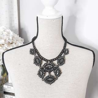 Promod vintage design sparkly statement necklace • jewelry accessories