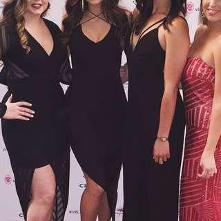 Black strappy dress s
