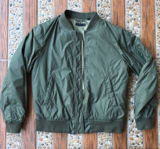 MEN MA-1 BLOUSON, OLIVE, large not zara topman pull bear