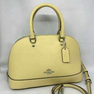 coach Mini Sierra 25x18 Vanilla Yellow