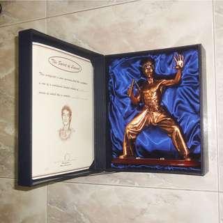 Hong Kong Bruce Lee 李小龍 Bronze Statue Figure 90's With Certificate & Box Mint