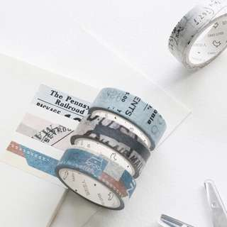 (PO) Newsprints and Patchworks Washi Tapes