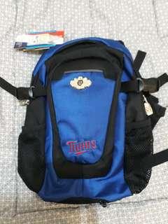 Tas punggung medium kombinasi biru hitam