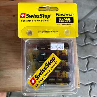 Restock: Swissstop Flash Pro Black Prince Carbon Rim Brake Pads (free postage)