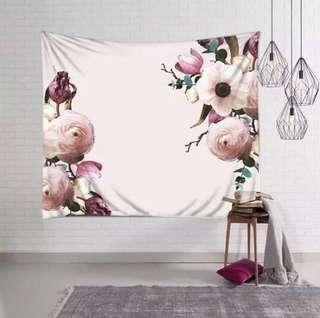 🚚 小預算佈置術花裝飾掛布壁畫直播背景Decorative Cloth Hanging Cloth Mural