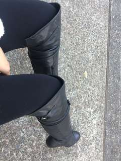 Staccato knee high leather boots