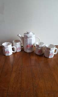 Commemorative Jug & 4 Cups