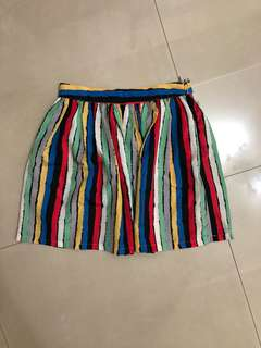 🚚 正韓彩色條紋短裙
