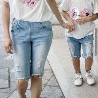 ☑️ INSTOCKS 3-15Y Kids Denim Jeans G21043A (Mother size available)
