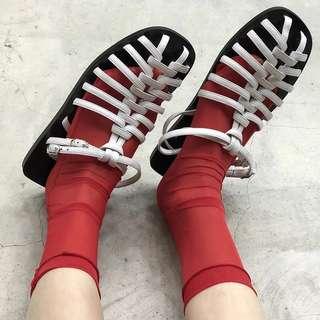🚚 平底編織羅馬涼鞋(兩色)