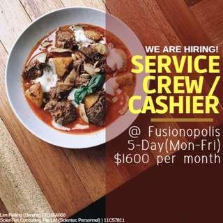 Full Time Service Crew ($1600 / Fusionopolis / 5-day)
