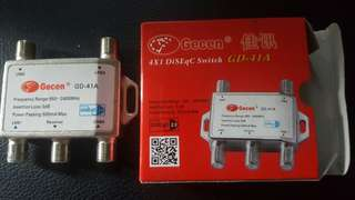 Gecen 4 x 1 DiSEqC Switch GD-41A