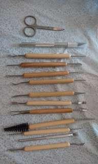 軟陶工具 13件