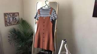 Dungaree dress + Top