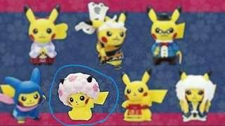 Pokemon Center紀念限定比卡超扭蛋 pikachu