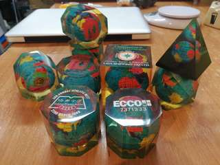 Globe paper weight collection ,9 pcs