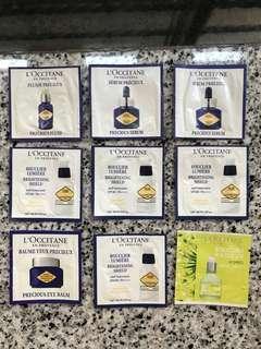 L'occitane sample set