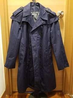 Dark Navy Trench Coat