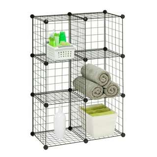 *FREE DELIVERY to WM only / Ready stock, offer*    Set of 6 wired mesh storage cube blk as shown design/color. Free delivery is applied for this item. NP RM98