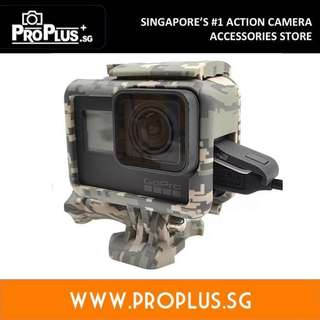 ProPlus GoPro Frame for Hero 6, Hero 5 Black, Hero 2018 (Digital camouflage - Grey)