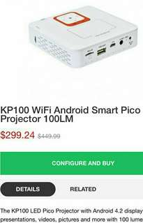 KP100 WiFi Android Smart Pico Projector 100LM