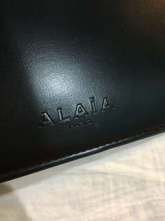 ALAÏA Paris Original - Black Envelope Clutch - Preloved
