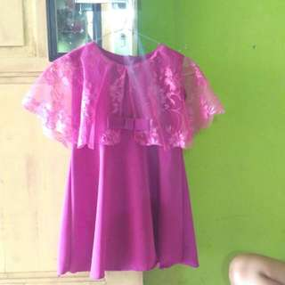 dress rompi brukat cantik