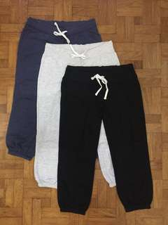 LOT OF 3 MOSSIMO JOGGING PANTS