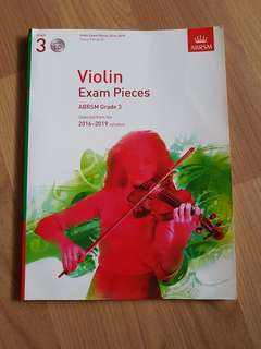 Violin Grade 3 exam pieces / book