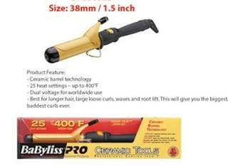 Babyliss PRO 38mm ceramic curling iron