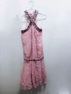 Pink Haltered Party Dress