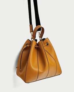 Zara yellow bucket bag/ tas