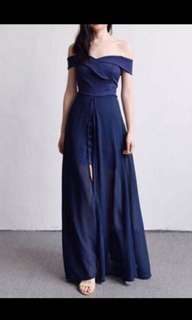 Sabrina long dress navy /party dress / dress pesta / long dress