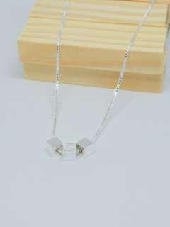 Peyton triple square box 925 silver sterling necklace