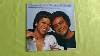 JOHNNY MATHIS & DENIECE WILLIAMS .that's what friends are for.  Vinyl record
