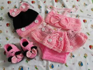 Crochet Minnie Mouse Set 😊💖