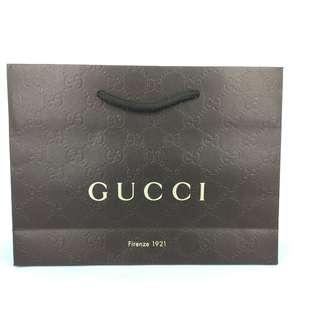 Gucci 細紙袋 - 100% 正品紙袋 (包本地平郵)