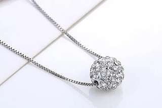 Dianne disco ball 925 silver sterling necklace