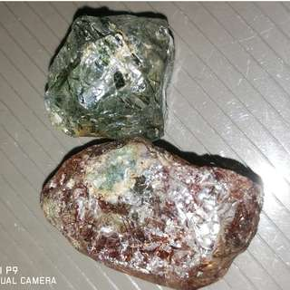 Natural Green & Brown Rutiliated Quartz Crystal. Kangeyam Mine. Great Properties. ($20 each) for Collection.