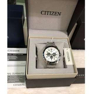 【負法律責任】星辰CITIZEN 三眼腕錶 基隆大錶哥 男錶 AN8160-52A