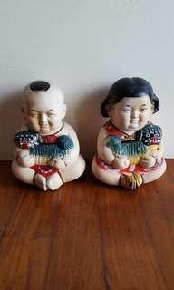 Vintage Huishan Figurines
