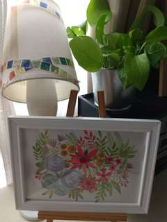 Floral Watercolor Painting deco