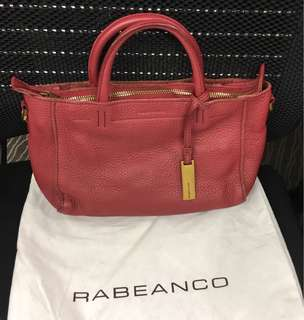 💯 Real Rabeanco leather handbag 真皮手袋 (original price HK$1650) not coach tod's marc jacobs