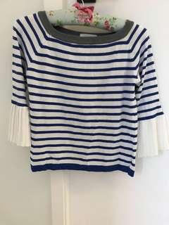 彩藍白間線衫