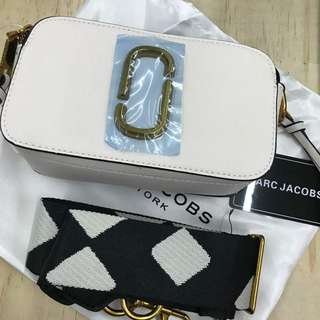 Marc Jacobs Snapshot Camera Sling Bag in White