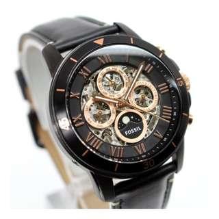 【負法律責任】Fossil ME3138頂級機械真牛皮腕錶 44mm男錶女錶 基隆大錶哥