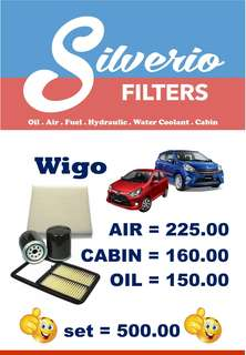 Filters for Mirage (Air, Cabin and Oil)